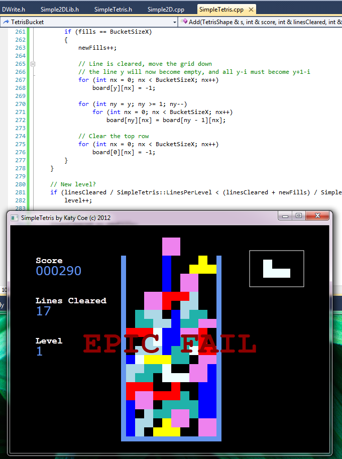 Coding Challenge: Write Tetris In 8 Hours or Less (6/6)