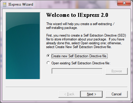 Deployment with IExpress: How to turn your MSI file into an EXE