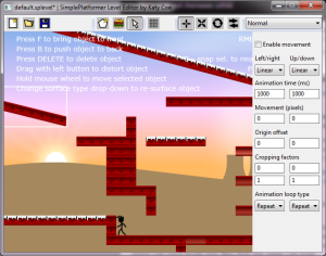 Figure 1. Basic level editor for our platform game
