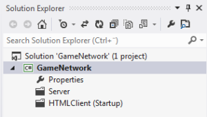 Figure 4. An empty LightSwitch project in Solution Explorer