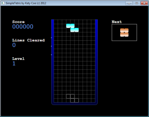 Figure 3a. The main game screen before a rotating background is added
