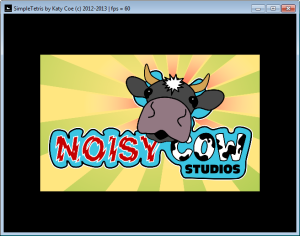 Figure 5b. The cow's head is animated with a sprite sheet