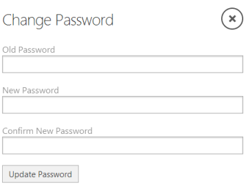 Figure 3. A typical change password dialog box